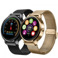 F1 MTK2502 Bluetooth Smart Watch with Heart Rate Monitor for Android IOS Phone gold one size