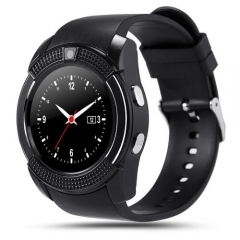 Smartwatch sport Watch Full Screen Smart Watches V8 Support TF SIM Card Bluetooth For Android black one size
