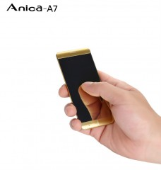 Mini Mobile Phone Ultrathin Luxury Phone Mp3 Player Bluetooth 1.63inch Credit Card Cell Phone 335*200*71mm red