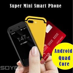 Mini Android Smart Phone  MTK Quad Core 1GB+8GB 5.0MP Dual SIM Cell Mobile Phone X redmi 335*200*71mm silver