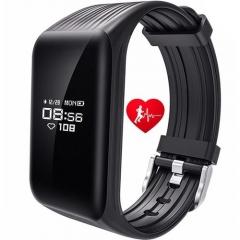 Smart Wristband Watch Bluetooth Smart Bracelet Fitness Tracker Heart Rate Monitor SM0132 black one size