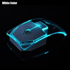Wireless Mouse Silent Gamer Transparent LED Ultra-thin Glow In The Dark Gaming Mice white one size