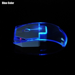 Wireless Mouse Silent Gamer Transparent LED Ultra-thin Glow In The Dark Gaming Mice blue one size