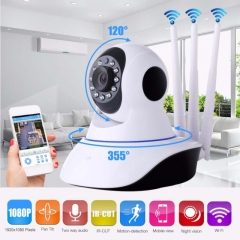 Home Security IP Camera P2P Three Antenna Wireless WiFi Security Camera Surveillance Night Vision white one size