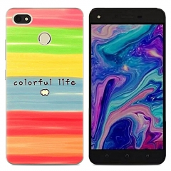 TECNO Y2 WX3 WX4 Phantom8 K7 Phone Case Artistic Soft TPU Back Cover Silicone Clear For K9 L8 L9 picture color k7