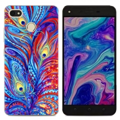 TECNO Y2 WX3 WX4 Phantom8 K7 Back Cover Silicone Phone Case Soft TPU Clear Cartoon picture color k7