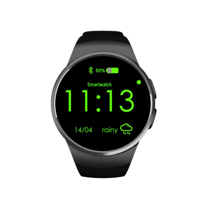 Smart Watch Kw18 Heart Rate Monitor Pedometer Clock Smartwatch For IPhone And Android Phone black one size
