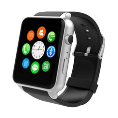 Smart Watch GT88 Heart Rate with GSM/GPRS SIM Card Bluetooth Smartwatch For IOS Android sliver one size