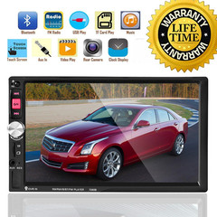 sunRisaeAtSea Double Din Car Radio - Bluetooth Touch Screen 7 inch,Video MP5/4/3 Player (YYD-7080B) without camera