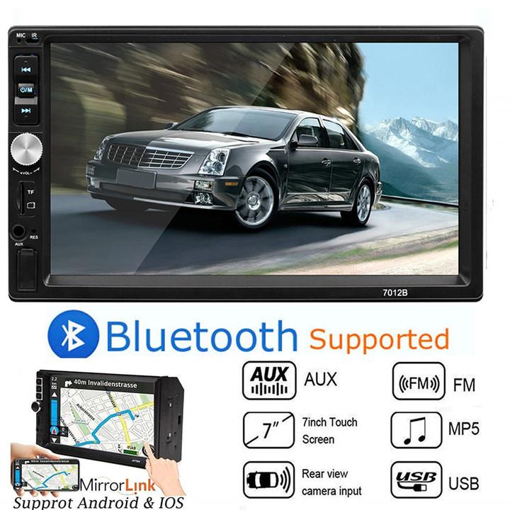 sunRiseAtSea Autoradio Bluetooth Car Radio Stereo MP5 Player Auto Multimidia USB SD AUX Player 7012B black