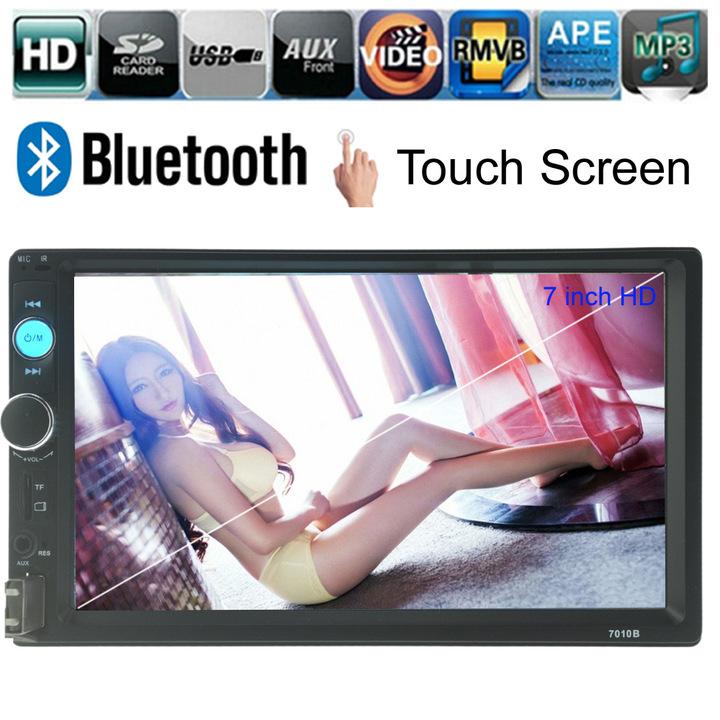 sunRisaAtSea Double Din Car Radio - Bluetooth Touch Screen 7 inch,Video MP5/4/3 Player (YYD-7010B) Black