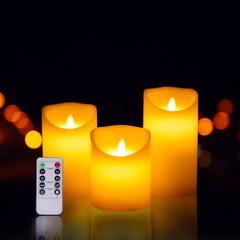 Flameless Tea Light Candles, Battery-Powered LED Tealight Candles, Fake Candles, Tealights (3 Pack) White OneSize