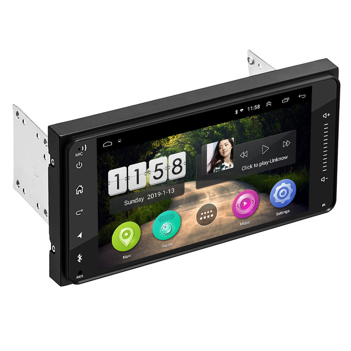 """7"""" 2 Din Android 8.1 Car Navigation MP5 Player for FM BT, Video Audio Stereo compatible with Toyota black"""