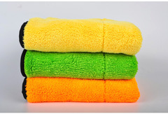 Thickened Super Absorbent Coral Wool Car Towel 45*38CM Double Color Coral Wool Car Wash Towel 5PACK