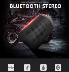 Rechargeable Wireless Subwoofer Player,Bluetooth High Volume Audio Speaker for Motorcycle,Car as picture