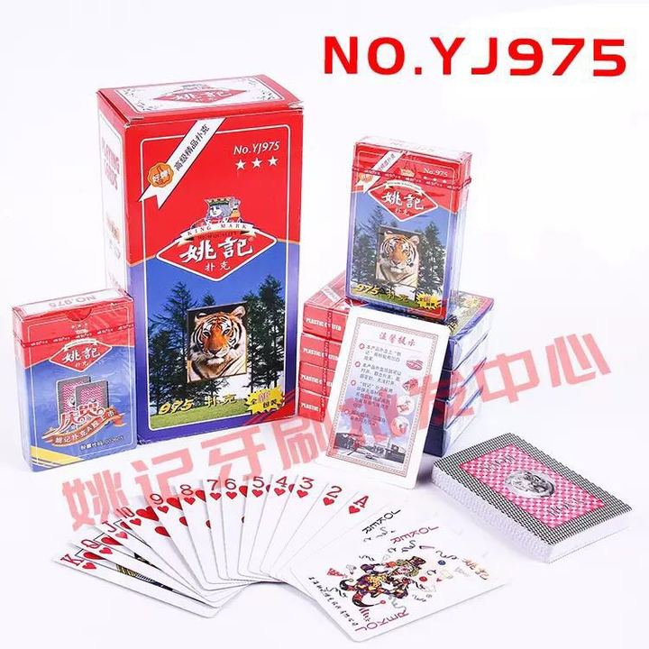 YaoJI 2 Decks of Playing Cards/ Poker Size Standard Index/ Play Game for Adult and Children 975/Two Deck