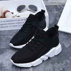 Women/ Men Couple Sneakers Lightweight Breathable Memory Foam Running Hiking Shoes Inspire black 36