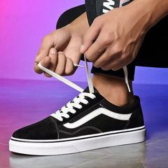 New Arrival Women&Men Ward Suede Canvas Trainers,Classic Low-top Skateboarding Shoes Sneakers black 37