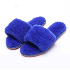 2019 New Wool Slippers Outdoor and Indoor Super Comfortable and Soft Blue 35-36