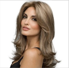 Synthetic Wigs New Fashion Wigs Women hairs wigs Long Wave black brown22inch black brown same size