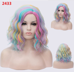 Synthetic Wigs New Fashion Wigs Women hairs wigs Long Wave15.7inch 2433 same size