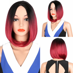Synthetic Wigs New Fashion Wigs Women hairs wigs Staight BOBO red-black wine-black same size as picture same size