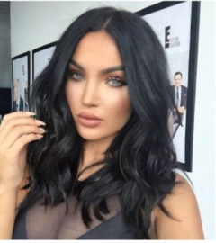 Synthetic Wigs New Fashion Wigs Women hairs wigs slight Wave black black same size