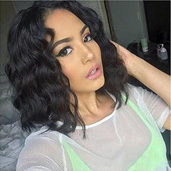 Synthetic Wigs non-pressurized inner-net free Women hairs wigs short wave black same size