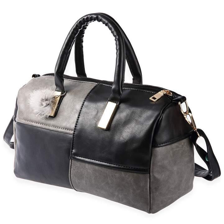 Vintage Splice Design Pillow Shoulder Cross Body Bag black+gray one size
