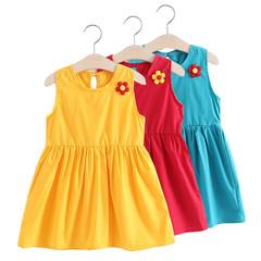 Girls Summer Dress Baby Children's Clothing  Sleeveless Lovely Little Angel  Dress Princess Dress red 90