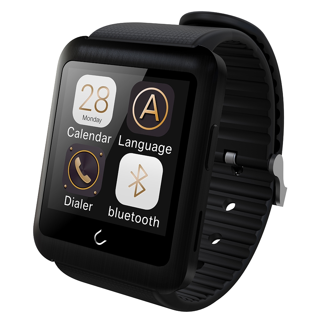 Excelvan U11 Bluetooth GSM Phone Watch with Call Remider / Pedometer Sleep  Tracker Black