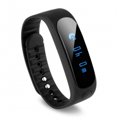 Diggro SW19 Message Longsit Reminder & Music Controller & Calories Tracker Smart Health Bracelet Black One Size