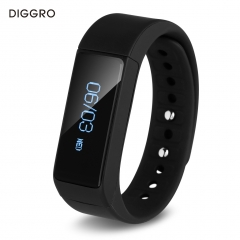 DIGGRO Pedometer Tracking Calorie OLED Health Wristband Black
