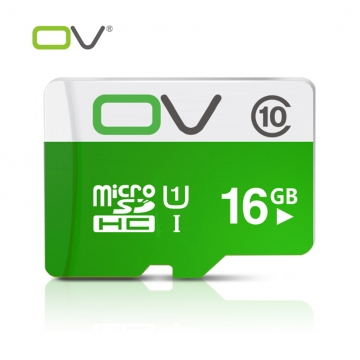 OV Micro SDHC Flash Memory Card TF Card Storage Card Class 10 White & Green UHS-1 16GB