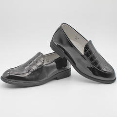 Fashion Boys Shoes Loafers For Little Kid And Big Kid-Black Black 32