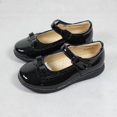 Girls Brogues Shoe Children Shoes Girl's Back to School Shoes black 25