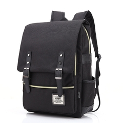 Men and women Canvas Backpacks for Laptop Large Capacity Computer Bag Casual School Bagpacks black as picture