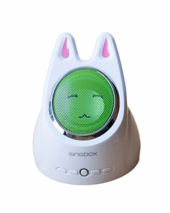 Cute Rabbit Radio with FM,USB - White & Green