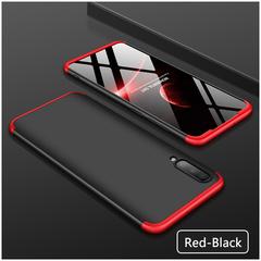 Samsung A10 A20 A30 A40 A50 A60 A70 A80 Phone Case 360 Degree Full Protection Hard Case Silver+black A10