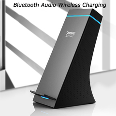 Fast charging Wireless Bluetooth speaker mobile phone universal Bluetooth audio wireless charger black one size
