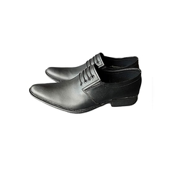 Plain Leather Office Shoes (laces patched) black 40 Leather
