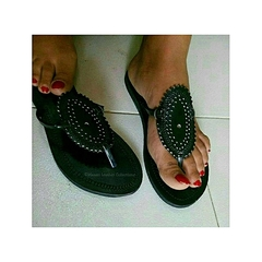 Oval Deco Sandals brown 36