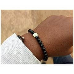 Charm bracelets Black beads Normal