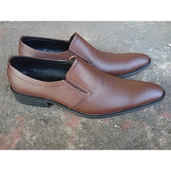 Leather Formal Shoes (Brown) Brown 40 Leather