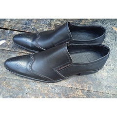 Leather Oxfords Shoes Black 40 Leather
