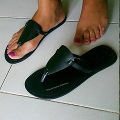 Triangle Design Sandals Black 36