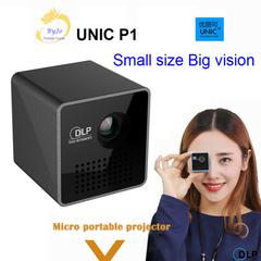 UNIC P1 Projector Pocket Home Movie Projector Black