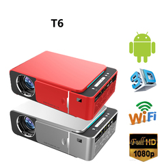 UNIC T6 LED Projector 3500 Lumens HD 1080p WIFI Bluetooth Android 7.1 (Andriod+wifi)Siver