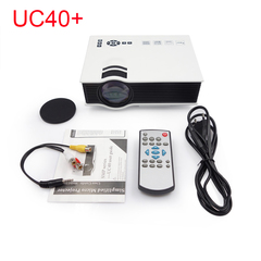 UC40 plus LED Projector Projetor 1200 lumens Home Theater Beamer Cheap Proyector white