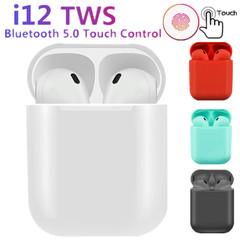 i12 TWS wireless headphones bluetooth 5.0 earphone   for iPhone xiaomi Blue
